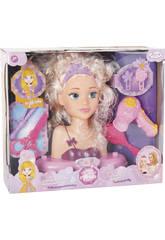 Busto assortimento Princessa Alexia con Accessori 23x19x10cm