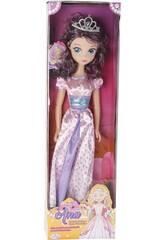 Muñeca Princesa Ana Vestido Rosa 75cm