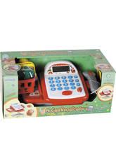 Caisse Enregistreuse avec Calculatrice, Scanner, Lumières, Son et Panier d'Achat 10 X 23 X 15 cm