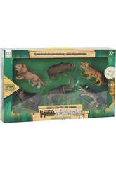 Figuras Set Animales 6 Unidades 7cm