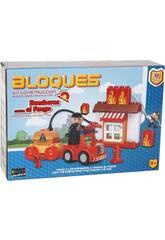 Gioco di Costruzioni Pompiere contro il Fuoco Blocchi 30 Pezzi