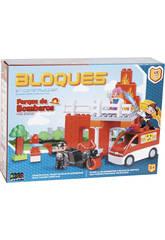 Parque de Bomberos 47 piezas Bloques Construccion