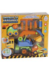Construisez Vos véhicules de Construction 28 x 17 cm Couleur Jaune