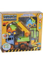 Construye Tus Vehículos de Construcción 27x20 cm Color Azul