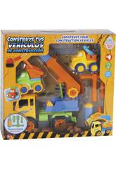 Construye Tus Vehículos de Construcción 27x20 cm Color Amarillo