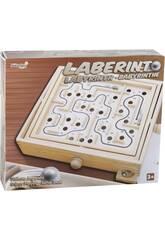 Labirinto de Madeira Com 2 Bolas Metálicas 6.5x26x30cm