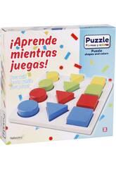 Puzzle Madeira Formas 12 Peças 20x20x1.5cm