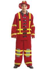 Costume Uomo XL Vigile del Fuoco