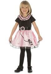 Kostüm-Mädchen M Fräulein Pink