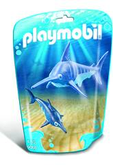 Playmobil Espadon et son Petit 9068