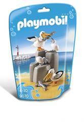 Playmobil Familia De Pelícanos 9070