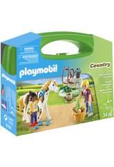 Playmobil Maletín Grande Cuidado De Caballos 9100