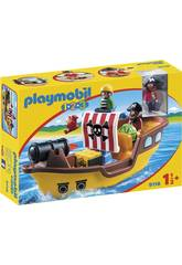 Playmobil 1, 2, 3 Bâteau de Pirates 9118