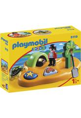 Playmobil 1, 2, 3 Ile de Pirate 9119