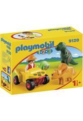 Playmobil 1,2,3 Quad con 2 Dinosaurios 9120