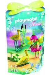 Playmobil Niña Hada Con Cigüeñas 9138
