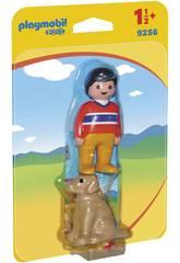 Playmobil 1.2.3 Hombre con Perro 9256