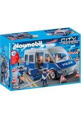 Playmobil Fourgon de Policiers avec Matériel de Barrage 9236