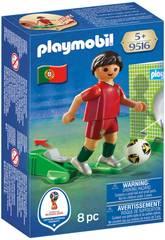 Playmobil Jugador De Fútbol Portugal 9516