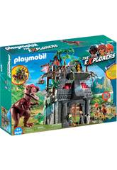 Playmobil Acampamento Base Com T-Rex 9429