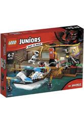Lego Juniors Zane e l'inseguimento della barca Ninja 10755