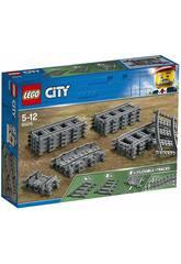 Lego City Rails Droits et Courbés 60205