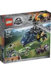 Lego Jurassic World Inseguimento sull'Elicottero di Blue 75928
