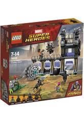 Lego Super Héros Attaque du décortiqueur de Corvus Glaive 76103