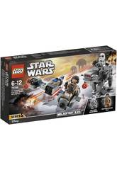 Lego Star Wars Ski Speeder contro Microfighter First Order Walker 75195
