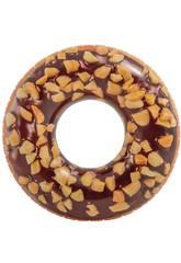 Bouée Gonflable Donut Chocolat 114 cm. Intex 56262