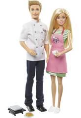 Barbie y Ken Yo Quiero Ser en la Cocina Mattel FHP64