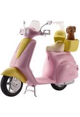 Barbie Scooter et Petit Chien Mattel FRP56