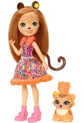 Enchantimals Muñeca et Mascotte Cheris Leopardo Mattel FJJ20