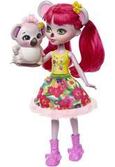 Enchantimals Muñeca y Mascota Karina Koala y Dab Mattel FNH24