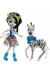 Enchantimals Muñeca Zelena Zebra y Hoofette Mattel FKY75