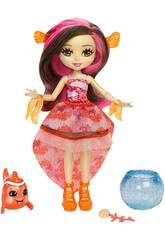 Enchantimals Muñeca Clarita Clownfish Con Cackle Mattel FKV56