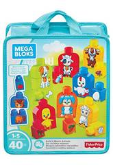 Mega Bloks Basics costruire e Match Animals Playset Mattel FLT36