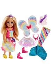 Barbie Dreamtopia Pequeña Sirena Mágica Mattel FJC99
