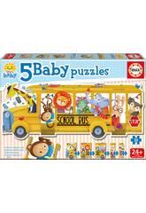 Baby Puzzle Pulmino degli animali Educa 17575