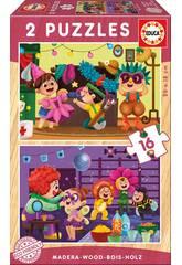 Puzzle Bois 2x16 Costumes Educa 17619
