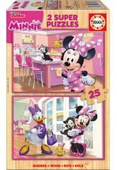 Puzzle 2x25 Minnie Happy Helpers Educa 17625