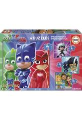 Puzzle PJ Masks progressive 6-9-12-16 Educa 17731