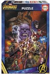 Puzzle 100 Avengers Infinity War Educa 17641