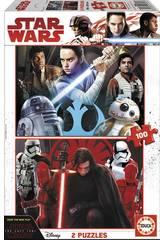 Quebra-cabeça 2x100 Star Wars Episódio VIII O Último Jedi Educa 17462