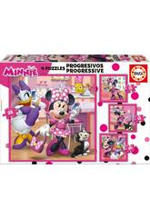 Puzzle Progressivos 12-16-20-25 Minnie Happy Helpers Educa 17630