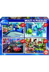 Puzzle Multi 4 50-80-100-150 Disney Pixar Educa 15615