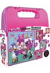 Puzzle Progresivos Minnie 12-16-20-25 con Valigetta