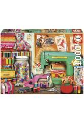 Puzzle 1000 Rincón De Costura Educa 17660