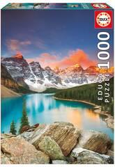 Quebra-cabeça 1000 Lago Moraine, Banff National Park, Canadá Educa 17739