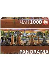 Puzzle 1000 Perros En El Embarcadero Panorama Educa 17689